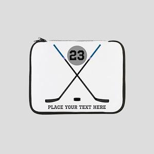 """Ice Hockey Personalized 13"""" Laptop Sleeve"""