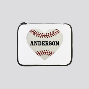 "Baseball Love Personalized 13"" Laptop Sleeve"