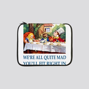"""NEW ALICE 002_ SQ MAD BLUE 13"""" Laptop Sleeve"""