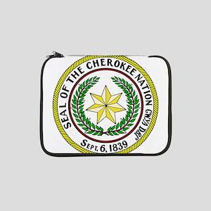 "Seal of Cherokee Nation 13"" Laptop Sleeve"