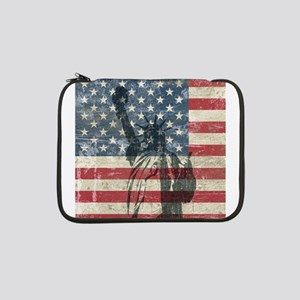 "Vintage Statue Of Liberty 13"" Laptop Sleeve"