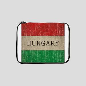 """Vintage Hungary Flag 13"""" Laptop Sleeve"""
