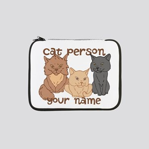"""Personalized Cat Person 13"""" Laptop Sleeve"""