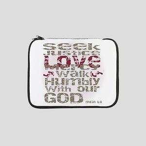 "Micah 6:8 13"" Laptop Sleeve"