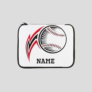 "Personalized Baseball Pitch 13"" Laptop Sleeve"