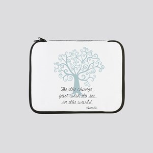 "Be the Change Tree 13"" Laptop Sleeve"