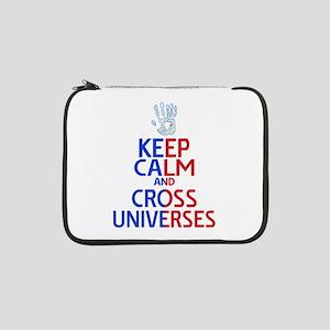 "Keep Calm Cross Universes 13"" Laptop Sleeve"