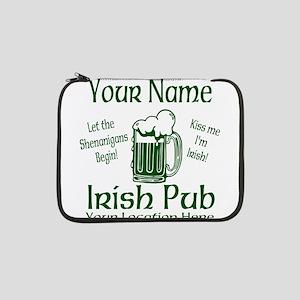 "Custom Irish pub 13"" Laptop Sleeve"