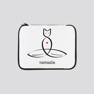 "Cat Meditator - Namaste - 13"" Laptop Sleeve"