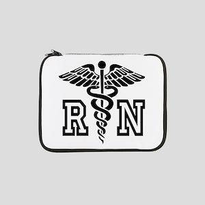 "RN Nurse Caduceus 13"" Laptop Sleeve"