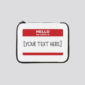 """Name Tag Big Personalize It 13"""" Laptop Sleeve"""
