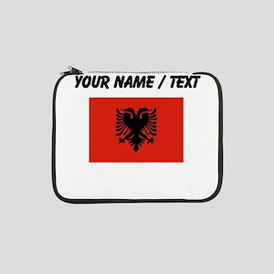 "Custom Albania Flag 13"" Laptop Sleeve"