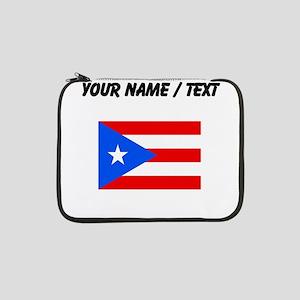 "Custom Puerto Rico Flag 13"" Laptop Sleeve"