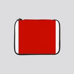"""Red Solid Color 13"""" Laptop Sleeve"""