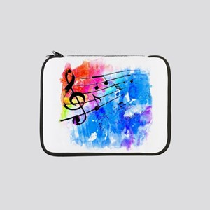 """Colorful music 13"""" Laptop Sleeve"""