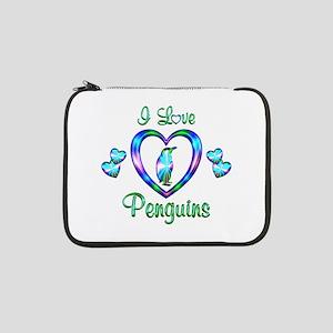 "I Love Penguins 13"" Laptop Sleeve"