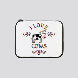"I Love Cows 13"" Laptop Sleeve"