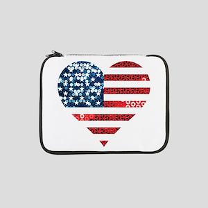 """usa flag heart 13"""" Laptop Sleeve"""