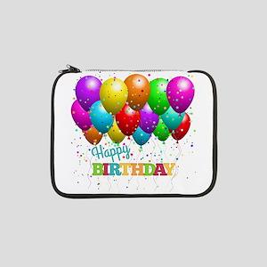 """Trendy Happy Birthday Balloons 13"""" Laptop Sleeve"""
