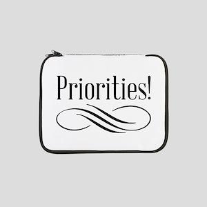 """Priorities! 13"""" Laptop Sleeve"""