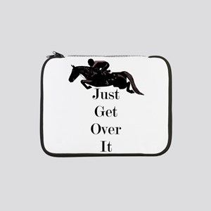 """Just Get Over It Horse Jumper 13"""" Laptop Sleeve"""