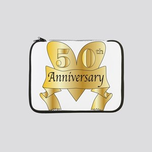 "50th Anniversary Heart 13"" Laptop Sleeve"