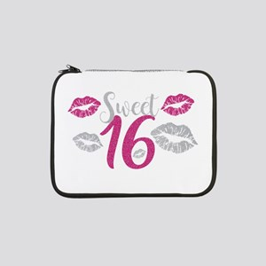 """Sweet Sixteen 16 Birthday Glitte 13"""" Laptop Sleeve"""