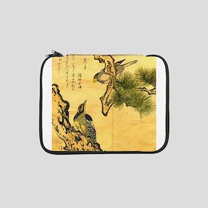 "Woodpecker and Grossbeak by Utam 13"" Laptop Sleeve"