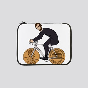 "Abraham Lincoln On A Bike With P 13"" Laptop Sleeve"