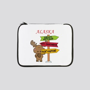 """Alaska Moose What Way To The Nor 13"""" Laptop Sleeve"""