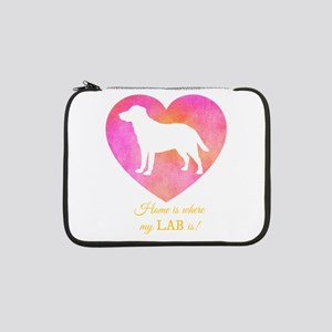 """home is where my lab is 13"""" Laptop Sleeve"""
