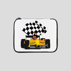 "Yellow Race Car 13"" Laptop Sleeve"