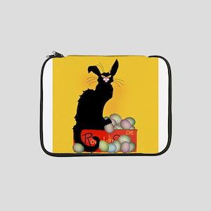 "Happy Easter - Le Chat Noir 13"" Laptop Sleeve"