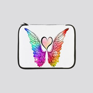 """Angel Wings Heart 13"""" Laptop Sleeve"""
