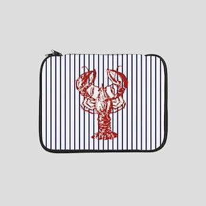 "blue nautical stripes vintage lo 13"" Laptop Sleeve"