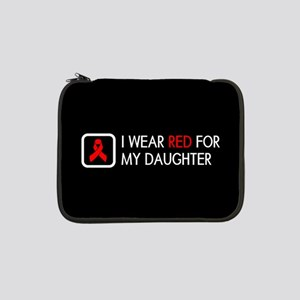 """Red Ribbon: Red for my Daughter 13"""" Laptop Sleeve"""