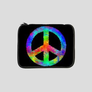 "Abstract Rainbow Peace Sign 13"" Laptop Sleeve"