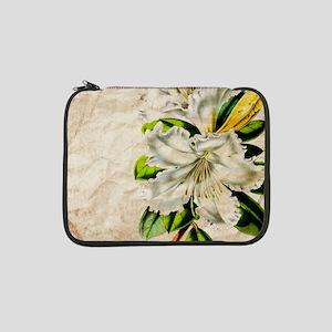 """french botanical white lily 13"""" Laptop Sleeve"""