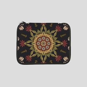 """hipster vintage floral mandala 13"""" Laptop Sleeve"""
