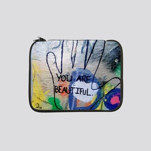 "You Are Beautiful Graffiti 13"" Laptop Sleeve"