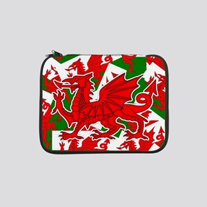 "Welsh Dragon - Draig 13"" Laptop Sleeve"