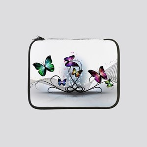 "Colorful Butterflies 13"" Laptop Sleeve"