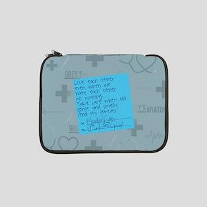 """Greys Anatomy Sticky Note 13"""" Laptop Sleeve"""
