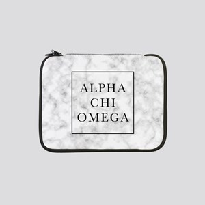 "Alpha Chi Omega Marble FB 13"" Laptop Sleeve"