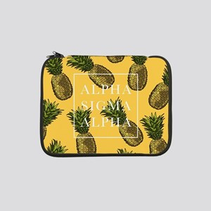 "Alpha Sigma Alpha Pineapples 13"" Laptop Sleeve"