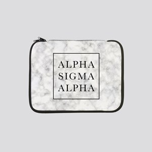 "Alpha Sigma Alpha Marble 13"" Laptop Sleeve"