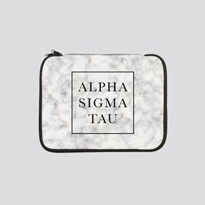 "Alpha Sigma Tau Marble 13"" Laptop Sleeve"
