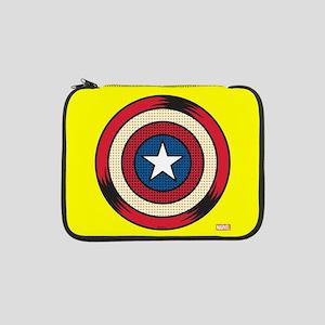 "Captain America Comic Shield 13"" Laptop Sleeve"