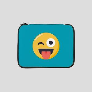 "Winky Tongue Emoji 13"" Laptop Sleeve"