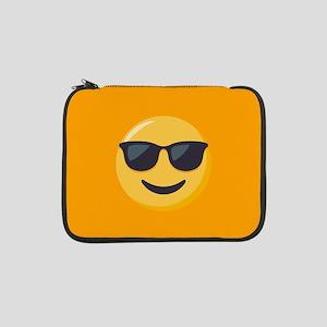 "Sunglasses Emoji 13"" Laptop Sleeve"